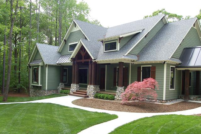 The cedar ridge plan 1125 d craftsman exterior for Cedar house plans