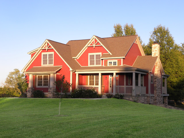 The chestnut hill plan 1244 craftsman exterior for Donald a gardner architects