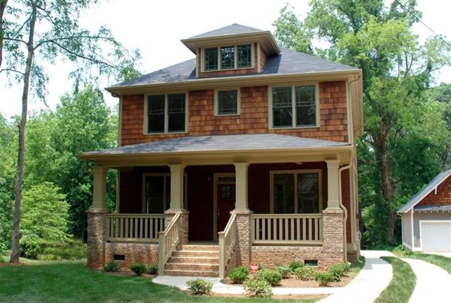 The dillon foursquare craftsman exterior atlanta for Craftsman homes atlanta