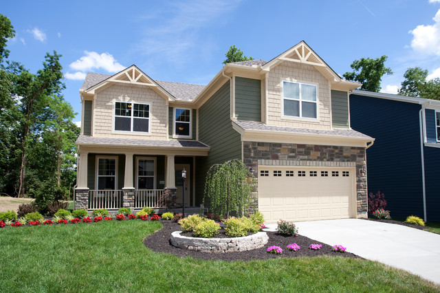The Earhart model home by Potterhill Homes traditional-exterior