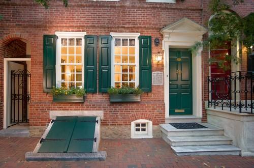 brick house red door