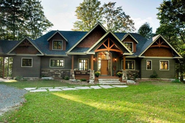 The gable crest model craftsman exterior vancouver for Custom home plans with cost to build