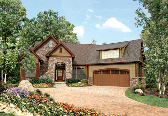 The gadberry plan 1042 traditional exterior for Donald a gardner architects