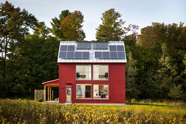 The go home passive house contemporary exterior for Maine home and design