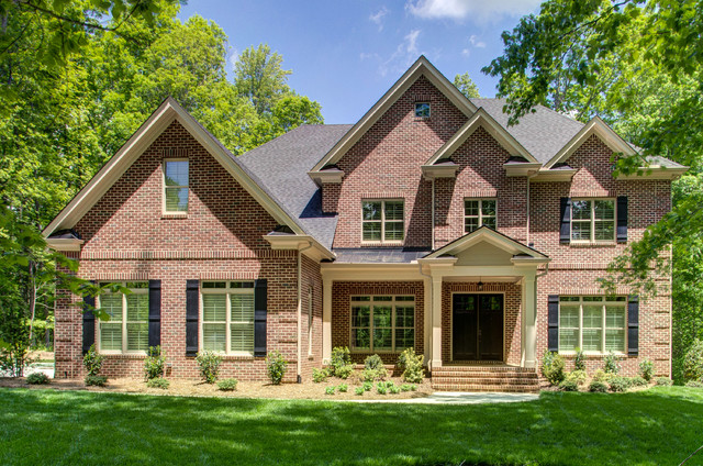 The greenwich traditional exterior raleigh by for Collins design build