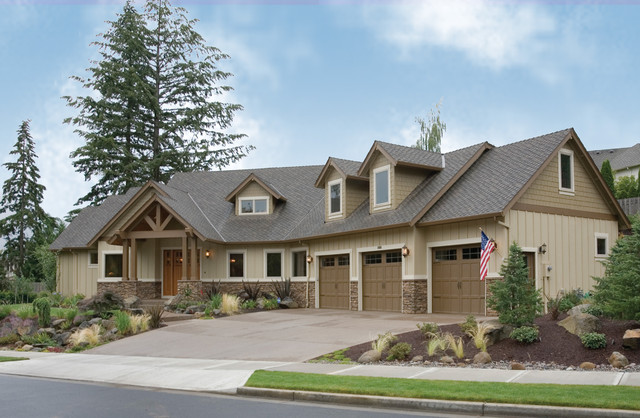 The halstad traditional exterior portland by alan House plans mascord