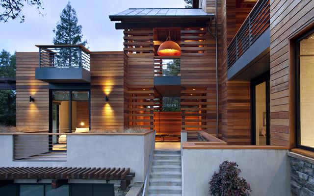 The hillside house for Contemporary exterior siding ideas