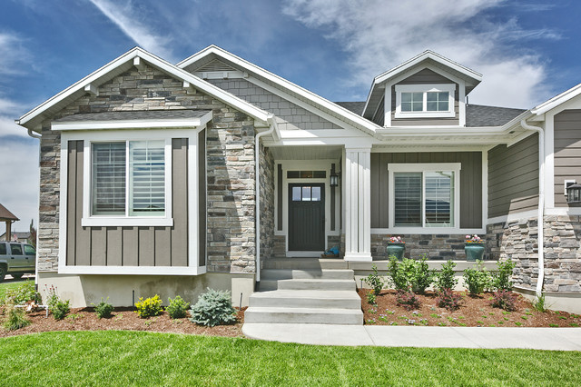 The legato craftsman exterior other by symphony homes for Keystone grey sherwin williams exterior