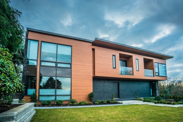 The Longboard House Contemporary Exterior Vancouver