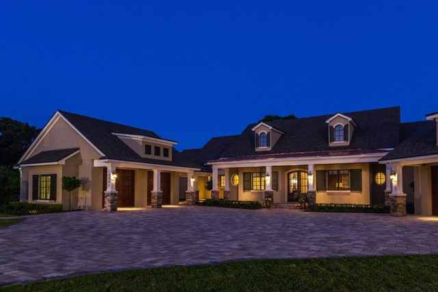 The nantucket by konkol custom homes transitional exterior orlando by mjs inc custom Custom home designs