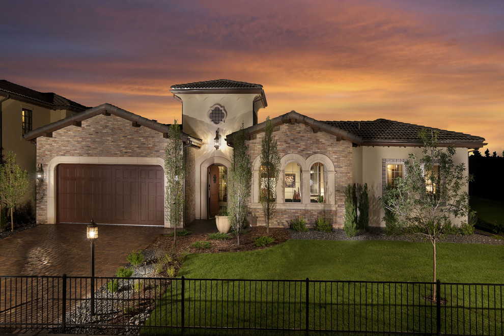 Tuscan exterior home photo in Denver