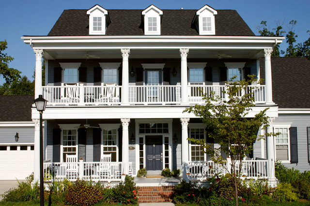 The owens model at old davidson traditional exterior for 2 story house plans with porches