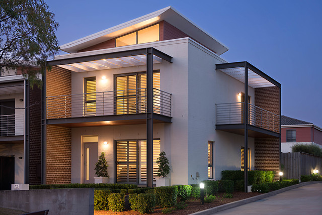 The ponds townhouse contemporary exterior sydney for Modern townhouse exterior