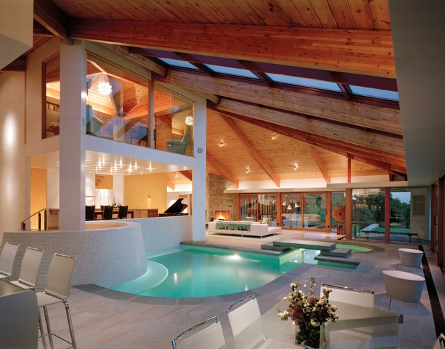 The Pool Room modern-exterior