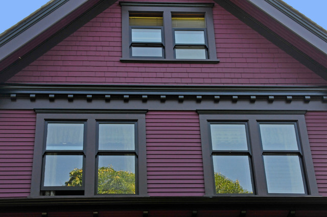 The purple painted lady eclectic exterior vancouver by warline painting ltd - Exterior painting vancouver property ...