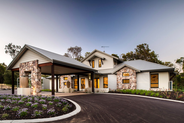 The quedjinup contemporary exterior perth by the for Companies that build homes