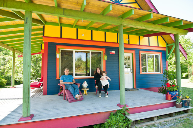 Home Exteriors Gone Wild With Color - Caribbean house colors exterior