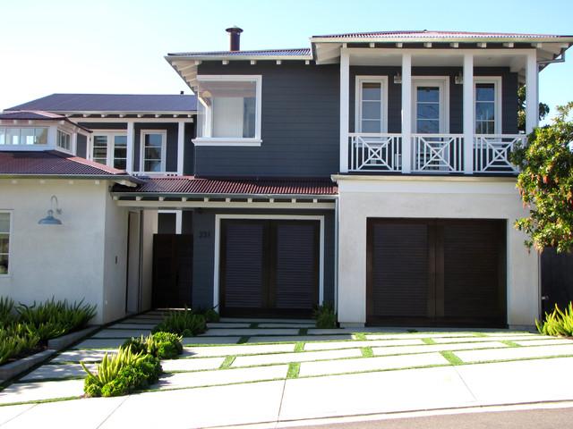 The Sandberg Home Beach Style Exterior Orange County