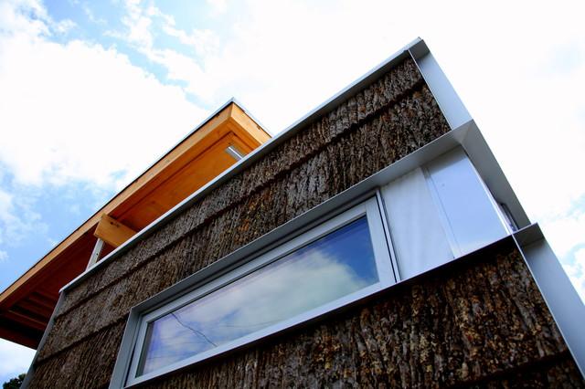 The Solar Homestead Bark House Shingle Siding Modern