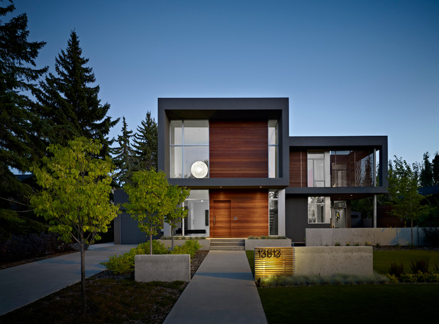 The summit modern exterior edmonton by habitat studio for Modern home decor edmonton