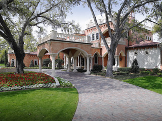 The Tourmaline Driveway By Custom Home Builders Tampa
