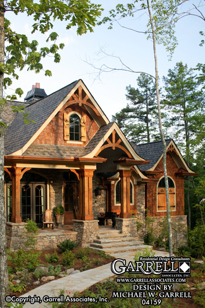 Log cabin front porch ideas joy studio design gallery for Craftsman log home plans