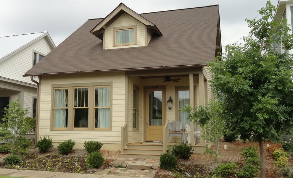 Craftsman beige concrete fiberboard exterior home idea in Little Rock