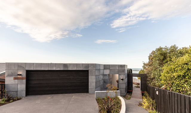 The Wall House Contemporary Exterior Christchurch
