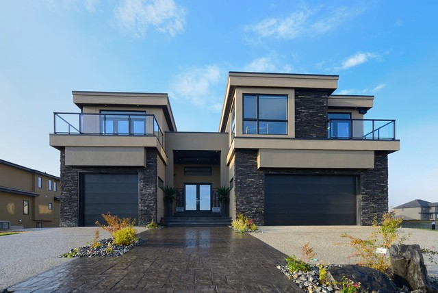 Home builders the wave contemporary exterior