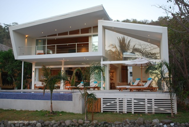 The white house of costa rica beach style exterior for Costa rica house plans