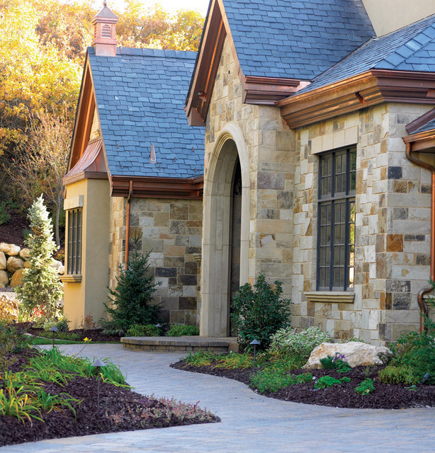 brick stone exterior homes