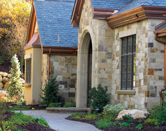 Thin Veneer and patio stone contemporary-exterior