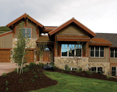 Thin Veneer and patio stone contemporary exterior