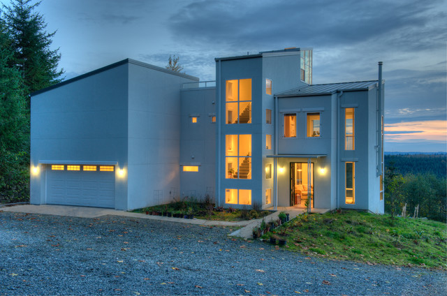 Entry side contemporary exterior seattle by dan for Dan nelson architect
