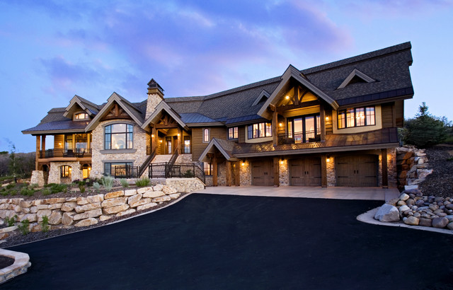 Example Of A Classic Stone Exterior Home Design In Salt Lake City