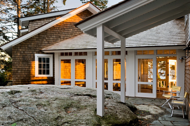 Three Season Porch Entry beach-style-exterior