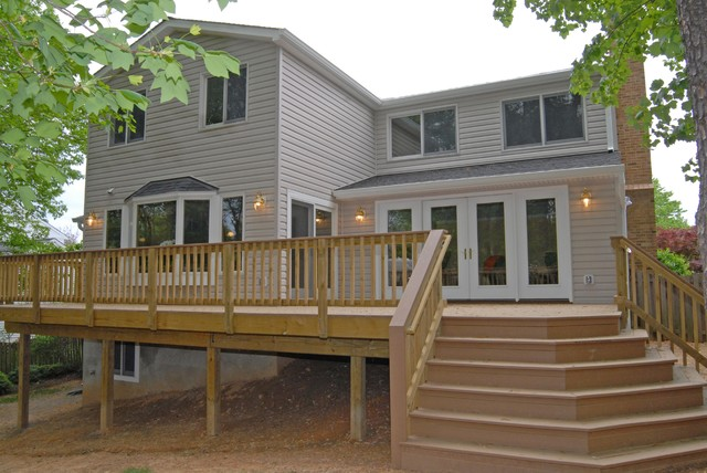Three Story Home Addition With Deck Annandale Va