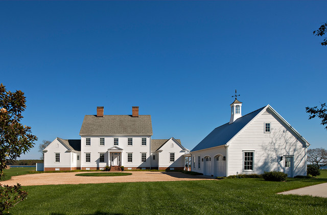 Tidewater Traditions Front Exterior farmhouse-exterior