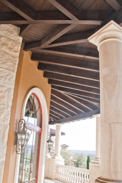 Timber Accents In San Antonio Custom Home Mediterranean