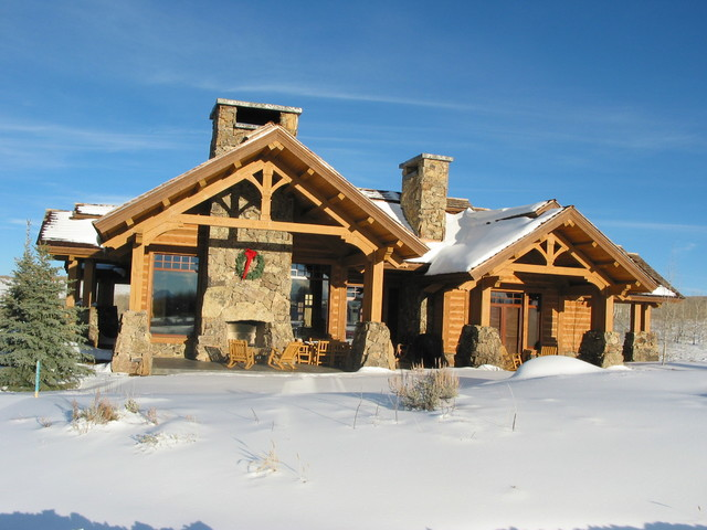 Timber Frame Cottage Rustic Exterior Salt Lake City