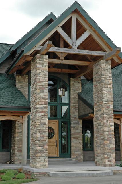 Timber Frame Home Traditional Exterior Grand Rapids