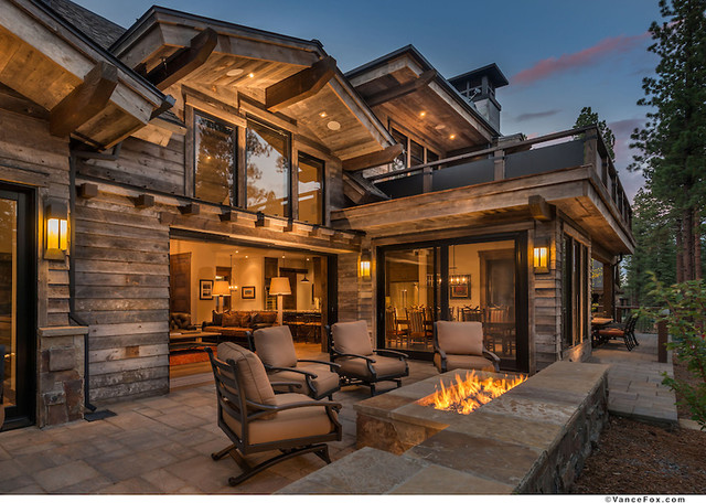 Timber Frame Home Lighting Rustic Exterior Seattle