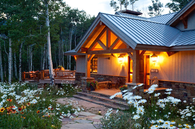 Timber Frame in the Mountains - Traditional - Exterior - Denver - by ...