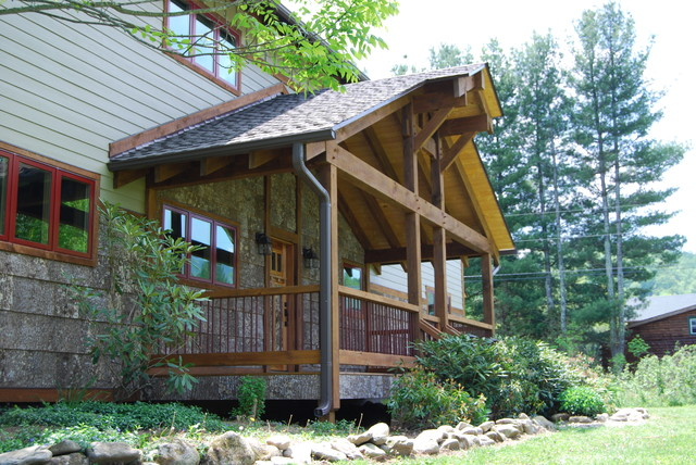 Timber frame porch addition for Timber frame porch addition
