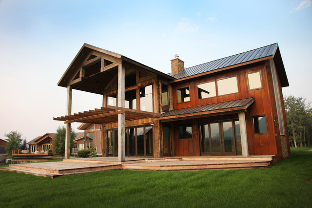 Timber Frame Rustic Exterior Other By Timberline