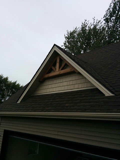 Timber gable end accents Gable accents