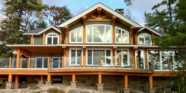 timber post beam cottage rustic exterior toronto by rh houzz com post and beam cottage plans post and beam cottage interior