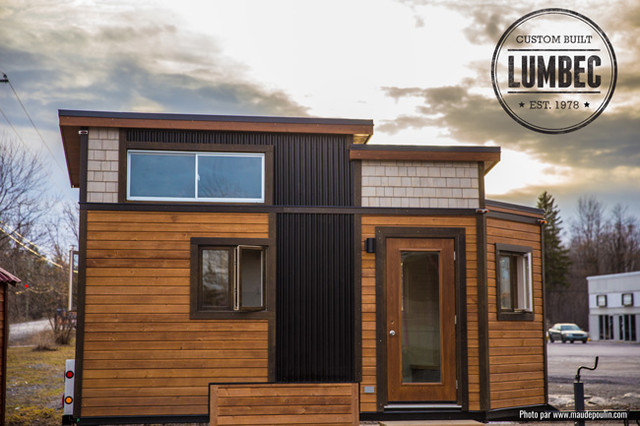 Tiny house by lumbec our prototype transitional for Exterior by design ottawa
