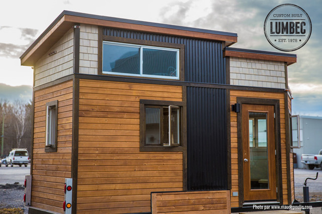 tiny house by lumbec our prototype transitional exterior. Black Bedroom Furniture Sets. Home Design Ideas