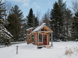 rustic exterior Houzz Tour: A Custom Made Tiny House for Skiing and Hiking (7 photos)